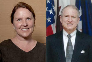 New board members Virginia Drake Lebermann (left) and Chase Untermeyer (right).