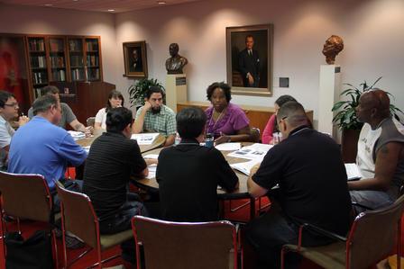 Tiffany Gill leads a workshop