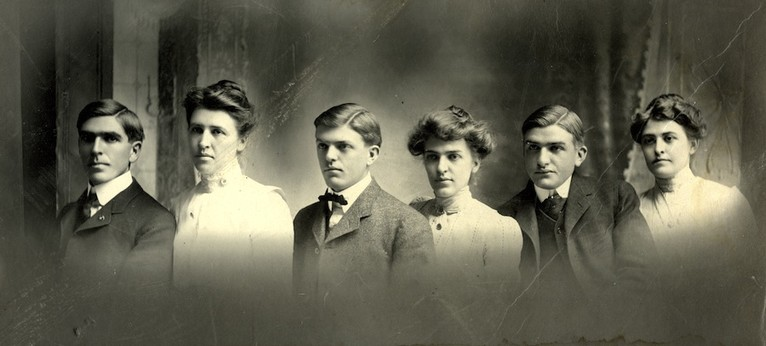 <em>Portrait of David Reed (third from left) with brothers and sisters. Courtesy of the Reed family.</em>