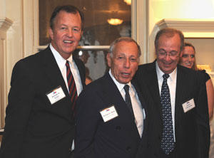 Joe Krier, Mickey Klein, and Julius Glickman at the grand opening of the Byrne-Reed House.