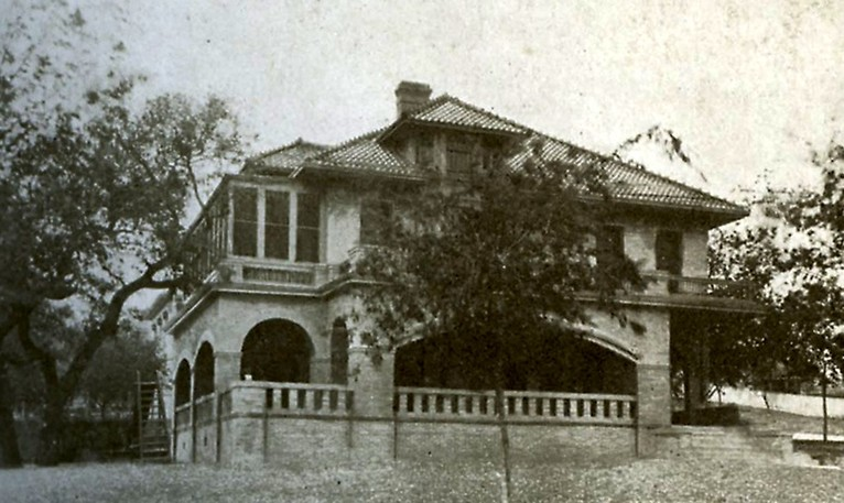<em>Photograph of the Byrne-Reed House shortly after the Reed family purchased the home in 1915. From the book</em> Austin: The City of the Violet Crown.