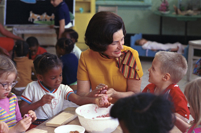 Lady Bird Johnson Visits Classroom for Project Head Start ...