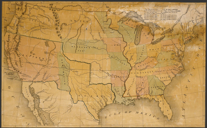 Map Of The United States 1848 Humanities Texas - 1850-map-of-us