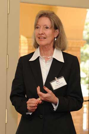 Mary Volcansek speaks at a luncheon honoring Jim Leach, Chairman of the National Endowment for the Humanities.