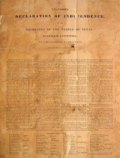 The Texas Declaration of Independence