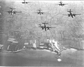 Bombers over Pointe du Hoc