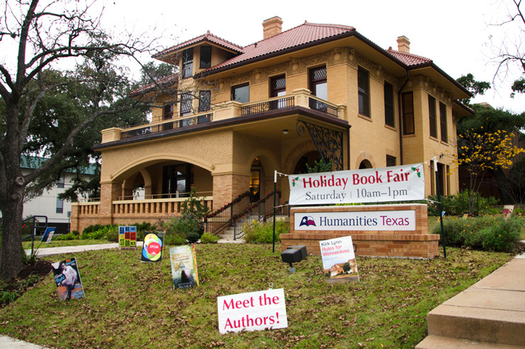 The Byrne Reed House Humanities Texas S Headquarters In Downtown Austin On The Morning Of Our Seventh Annual Holiday Book Fair Sarah Cortez Editor Of Goodbye Mexico Poems Of Remembrance Returns A Signed Book To A Reader Author H W