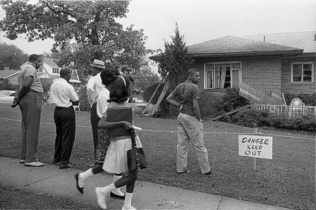 The bombed home of an NAACP attorney in Birmingham, Alabama