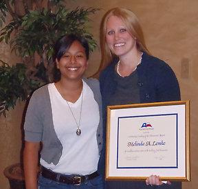 Melinda Lemke and her student