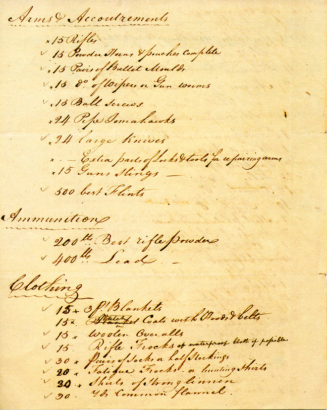 List Of Supplies And Indian Presents For The Lewis And Clark  List Of Supplies And Indian Presents For The Lewis And Clark Expedition    Humanities Texas