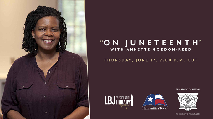 An Evening with Annette Gordon-Reed Pulitzer Prize-winning author Annette Gordon-Reed will discuss her new book, On Juneteenth, in which she examines the roots of Juneteenth and its continuing importance to the fight for racial equity.
